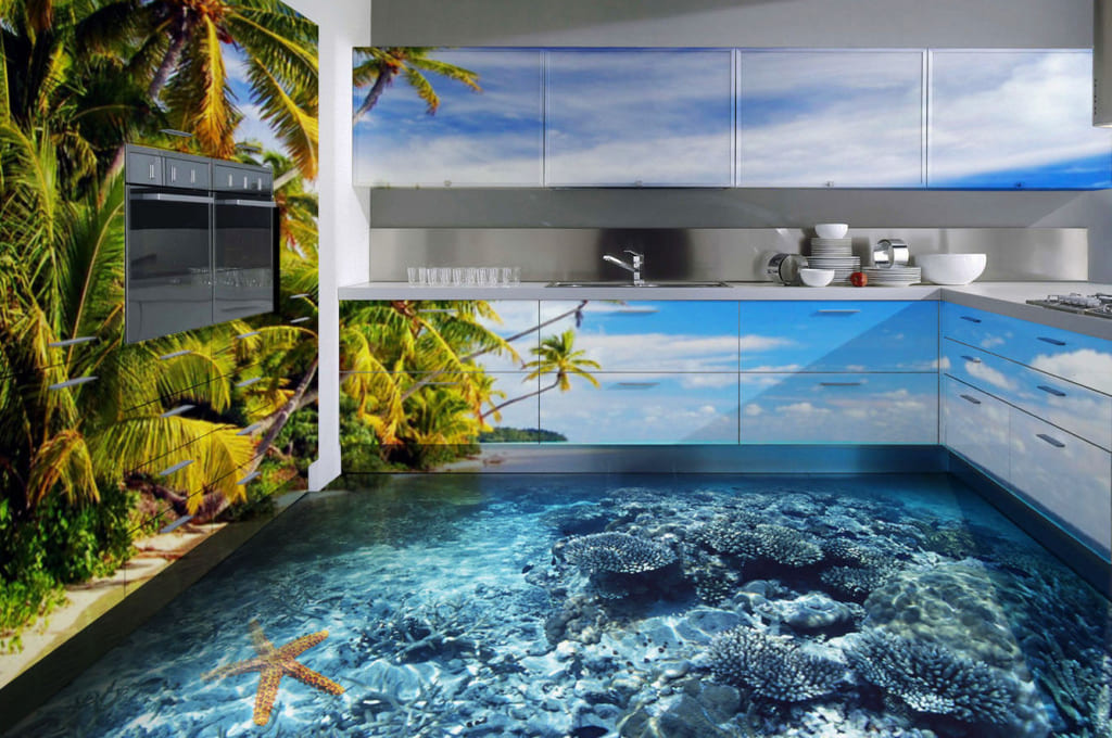 Виды наливных полов (3D наливной пол)