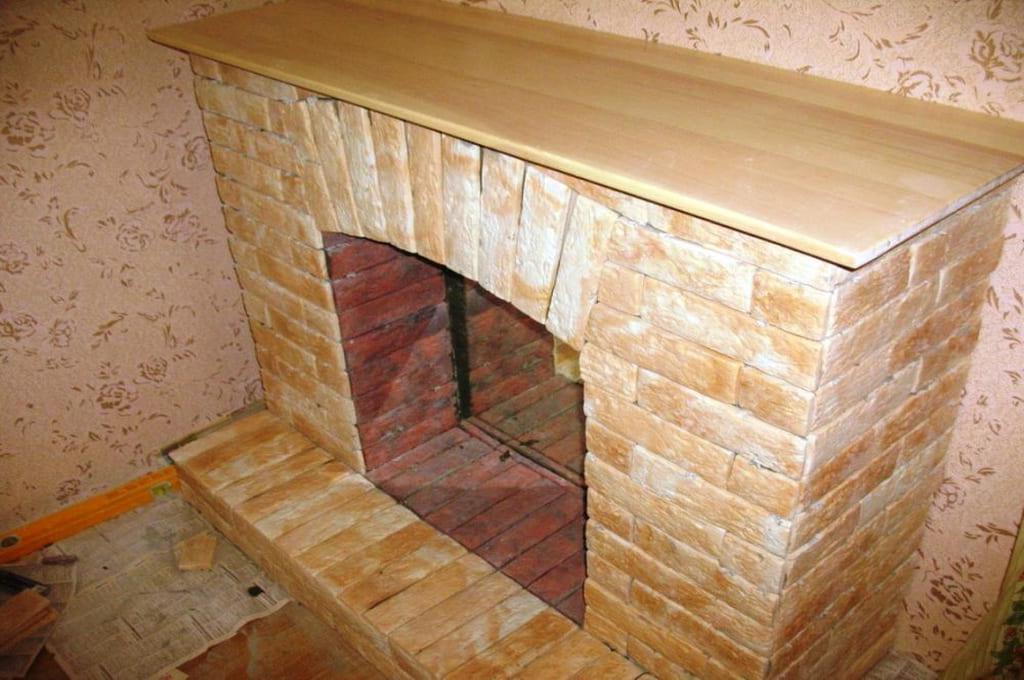 Изготовление фальш камина (Декорирование)