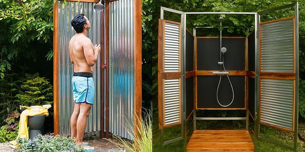 Летний душ из профнастила