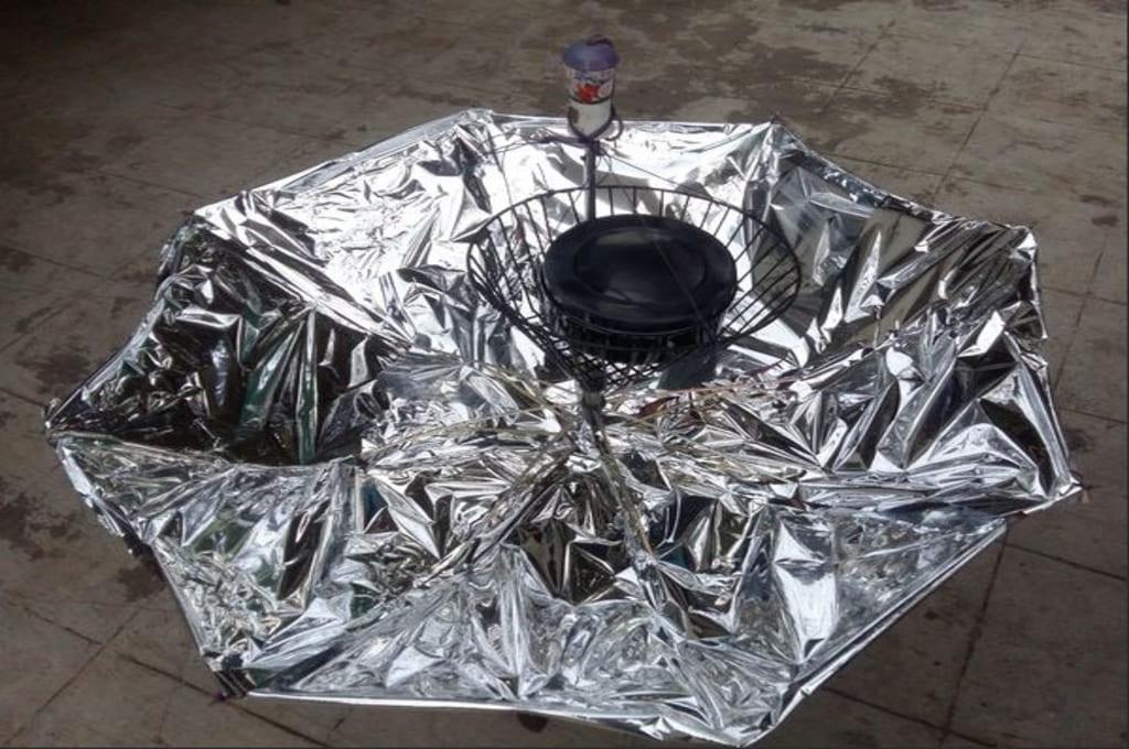 Пример спутниковой тарелки из зонта