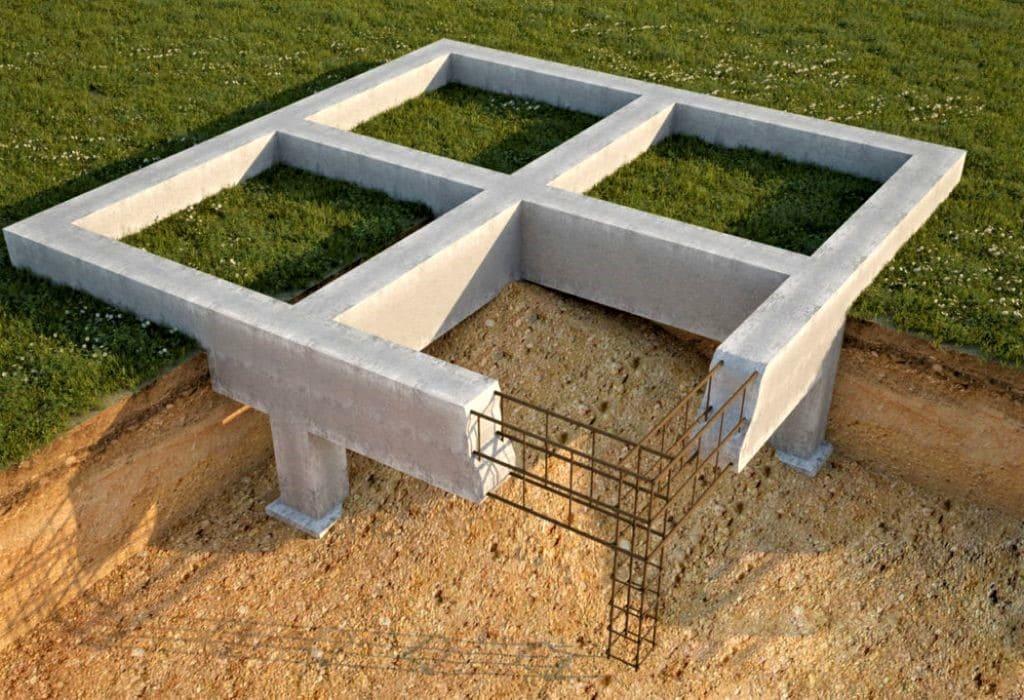 Столбчатый фундамент под курятник