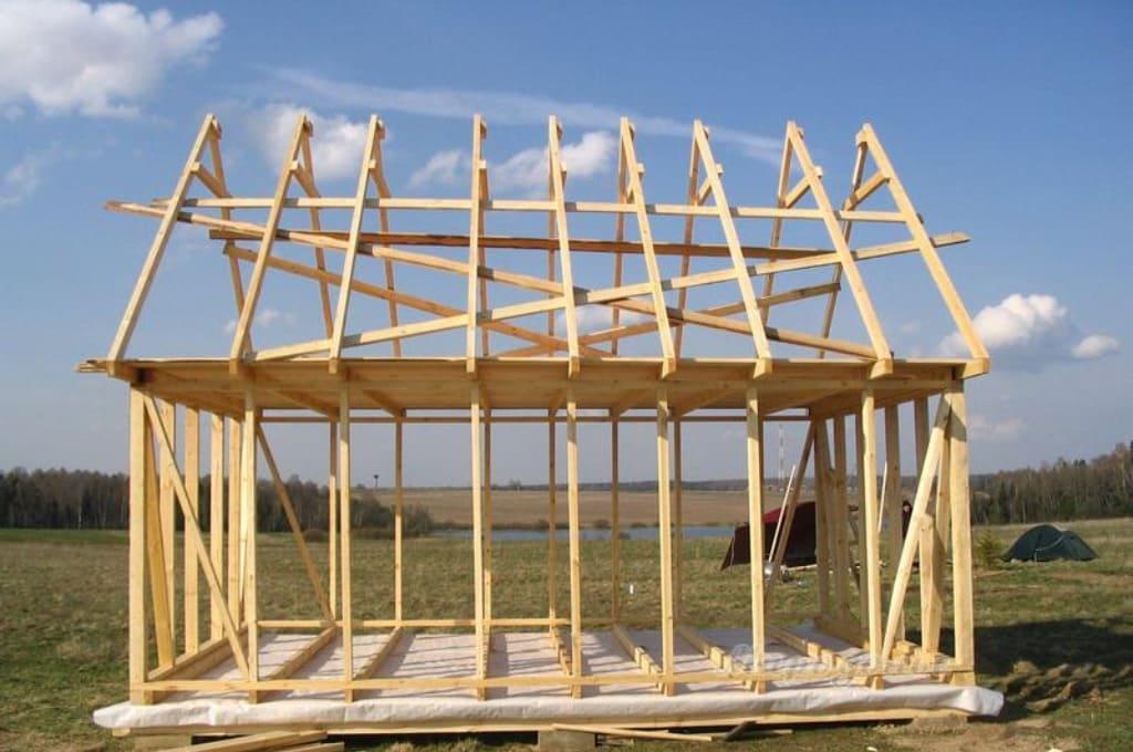 Обвязка стен и крыши
