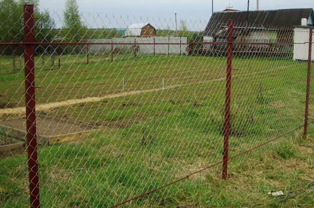 Натяжной забор из сетки